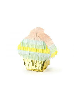 Ihana cupcake mini-pinjata! Sopii pöytäkoristeeksi ja sen voi täyttää yhdellä karkilla.