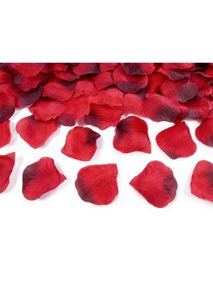 Punaiset ruusunterälehdet, 100 kpl.