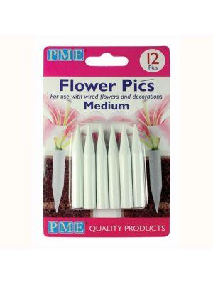 Medium kukkapiikkejä / kukkaputkia, 12 kpl.