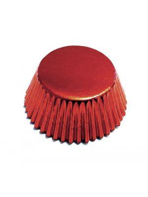 Punaiset metallinhohtoiset foliomuffinivuoat, 30 kpl.