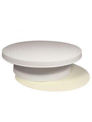 PME:n pyörivä kakkualusta luistamattomalla pohjalla, 31 x 8 cm.