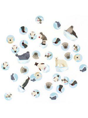 Pöytäkonfetit, Polaari , jääkarhu, pingviini, hylje