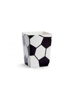 Jalkapallo-popcorn rasiat, 6 kpl.