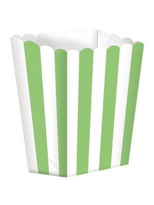 Pienet Popcorn-rasiat, Vihreä-raidallinen, 5kpl
