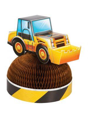 Pöytäkoriste hunajakennolla ja kaivnkoneella,