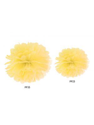 Keltainen pompom, 25 cm tai 35 cm.