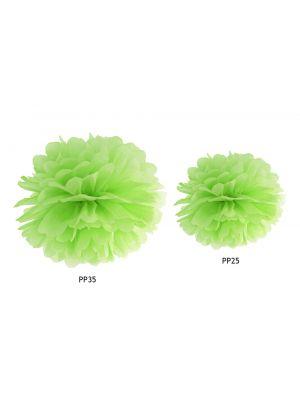 Lime vihreä pom pom, 25 cm tai 35 cm.