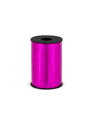Upea fuksia metallihohtoinen lahjanaru, pituus 225 m ja leveys 5 mm.