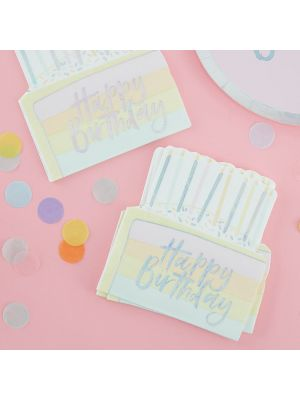 Lautasliinat Happy Birthday Kakku