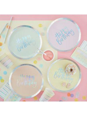 Pahvilautaset Pastel Party