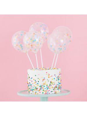 Kakkukoriste - pastelliset konfetti-ilmapallot
