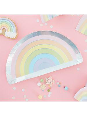 Pahvilautaset Pastel Rainbow