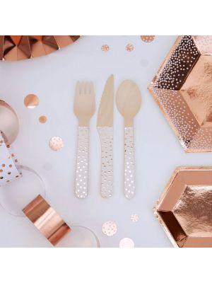 Puiset aterimet, Ruusukulta Polka Dot, 24 saa