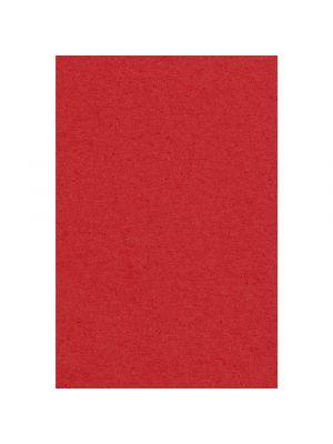 Punainen muovinen kertakäyttöpöytäliina.