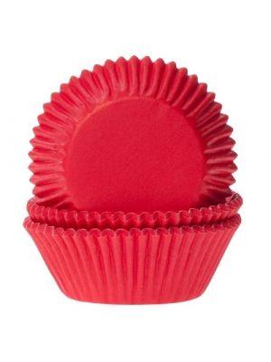Punaiset muffinivuoat, 50 kpl.