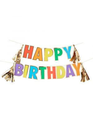 Happy Birthday satenkaari Banneri