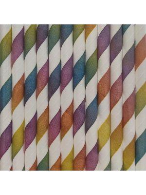 Paperipillit, Raidalliset Mix, 12kpl