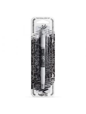 Rainbow Dust Food Art Pen Jet Black - Musta elintarviketussi.