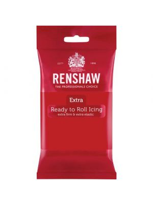 Renshaw Extra Ready to Roll Icing Red - Punainen sokerimassa, 250g.