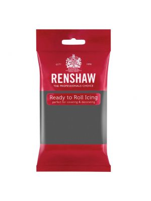 Renshaw Ready to Roll Icing Grey - Tummanharmaa sokerimassa, 250g.