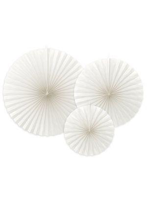 Paperiviuhkat Valkoiset 3 kpl