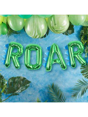 """Foliopallot """"ROAR"""", dinosaurus juhliin."""