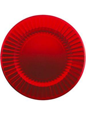 Isot metallinhohtoiset satiininpunaiset tarjoilulautaset, 6 kpl.
