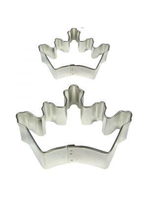 Iso ja pieni kruunu-muotti pikkuleipien, pipareiden tai koristeiden tekoon.