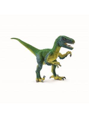 Schleich Velociraptor, jonka alaleuka voidaan avata.