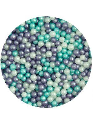 Scrumptious Glimmer Pearls Ice Mix - Pienet sokerihelmet, 4mm.