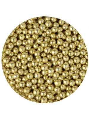 Scrumptious Glimmer Gold Pearls - Kultaiset pienet sokerihelmet, 4mm.