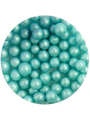 Scrumptious Glimmer Pearls Turquoise - Turkoosinväriset sokerihelmet, 7mm.