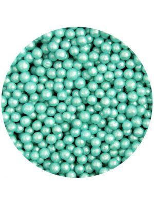 Scrumptious Glimmer Pearls Turquoise - Turkoosinväriset pienet sokerihelmet, 4mm.