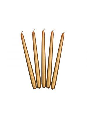 Kultaiset metalliset kynttilät - 29cm, 10kpl