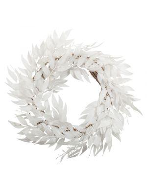 Seppele, Valkoiset lehdet glitterillä, 50cm
