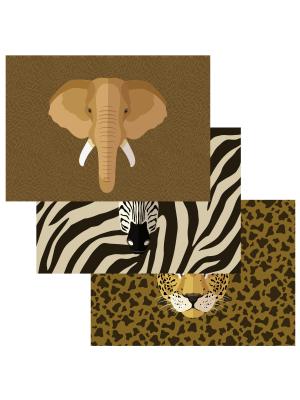 Pöytätabletit - Safarin Eläimet, 6 kpl