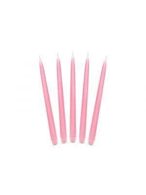 Hienot vaaleanpunaiset kynttilät, 10 kpl.