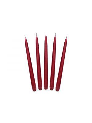 Viininpunaiset kynttilät, 10 kpl, 24 cm.