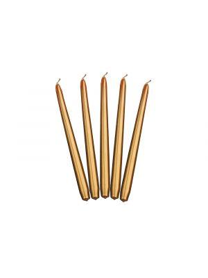 Kultaiset metallinhohtoiset kynttilät - 24cm, 10kpl