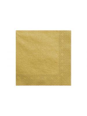 Kultaiset metallinhohtoiset lautasliinat, 20 kpl.