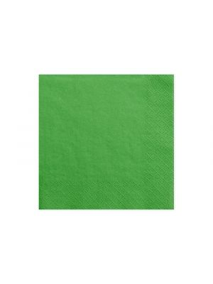 Vihreät servetit. Pakkaus sisältää 20 kpl lautasliinaa.