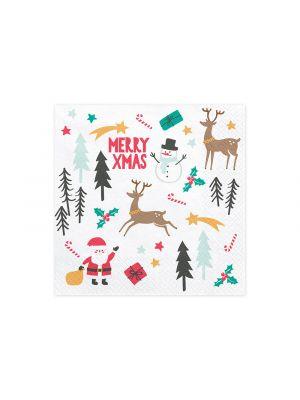 Lautasliinat Merry Xmas, 20kpl