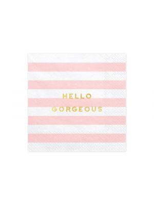 Lautasliinat Vaaleanpunaiset, Hello Gorgeous
