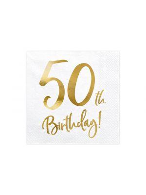 Lautasliinat 50-v, 50th Birthday, 20kpl