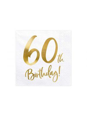 Lautasliinat 60th Birthday, 20kpl, 60-v juhliin