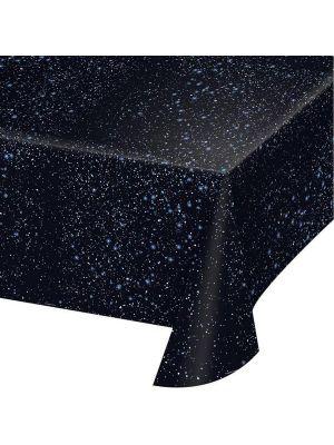 Muovinen avaruus-pöytäliina, 137 x 274 cm.