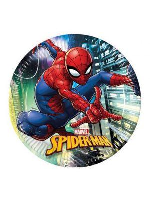 Spiderman lautaset, 8 kpl.