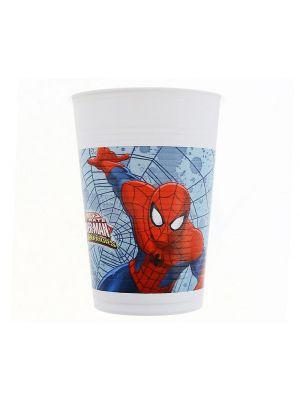 Spiderman muovimukit, 8 kpl.