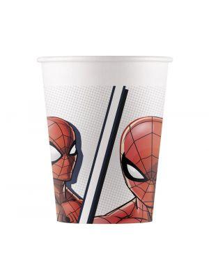 Spiderman pahvimukit, 8 kpl.