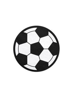Pyöreät jalkapalloservetiti, 20 kpl.